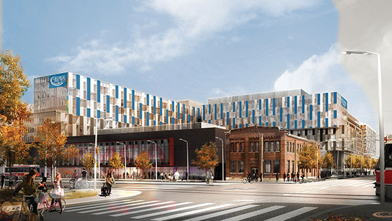 Rendering of new George Brown College Residence