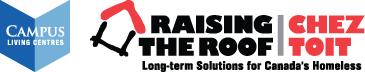 Campus Living Centres & Raising the Roof logo