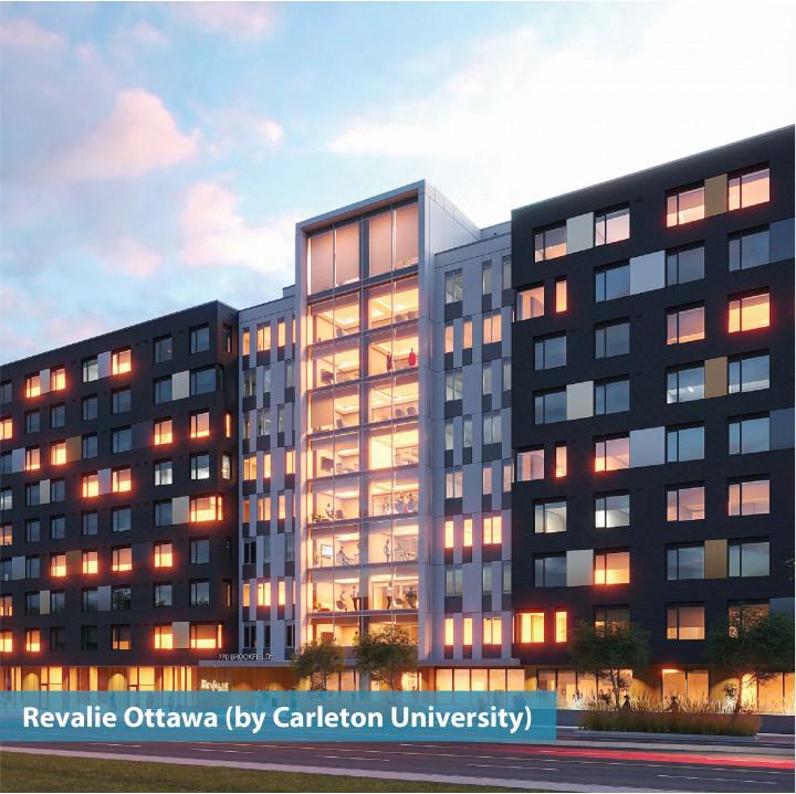 Exterior shot of revalie ottawa by carleton university